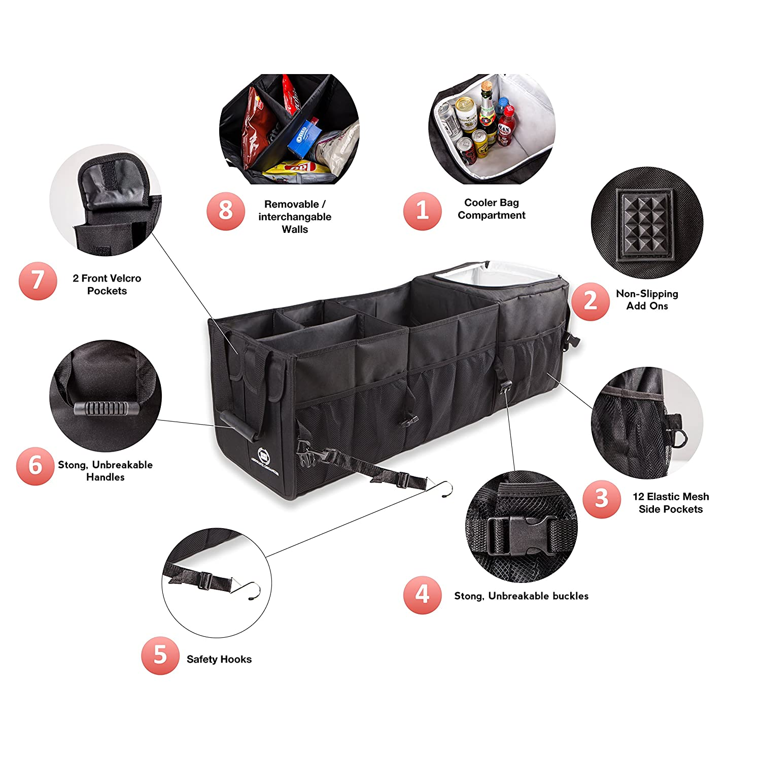 ArtMuseKitsMikash Untimate Car Trunk Organizer