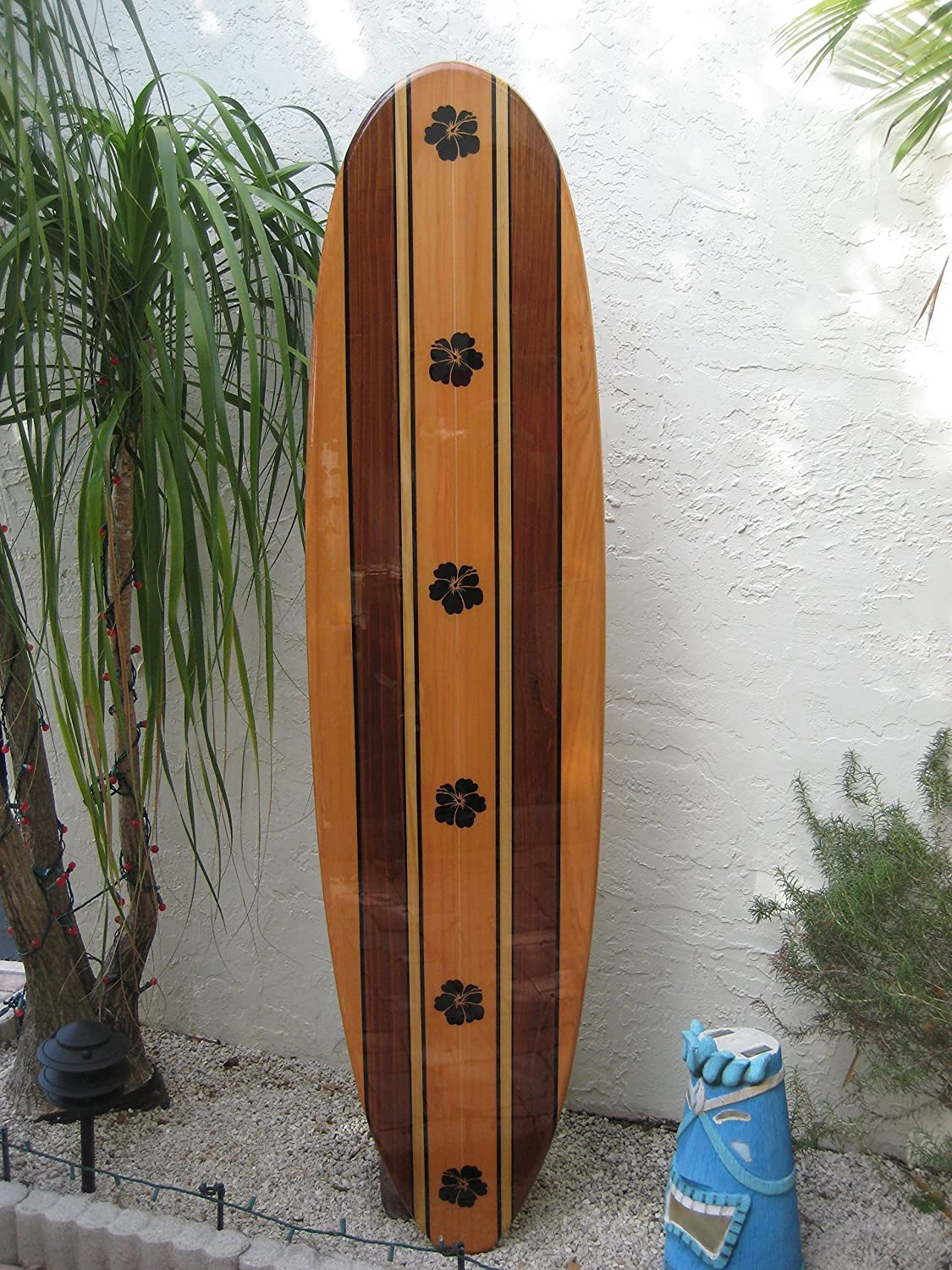 Tiki Bar Metal Novelty Surfboard Sign with Sticky Notes