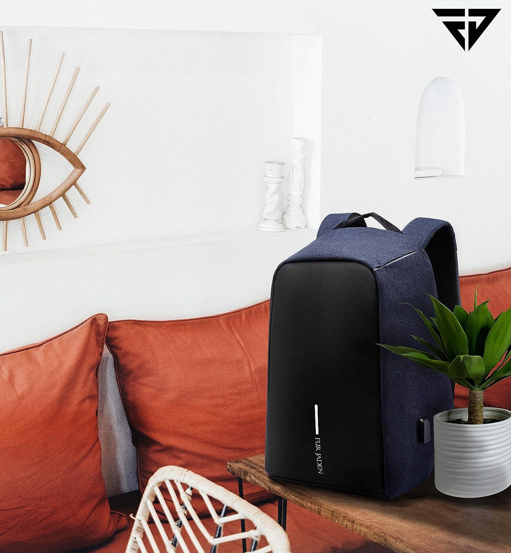 Fur Jaden Anti Theft Water Repellent 15.6 Inch Laptop Backpack Bag with USB Charging Port - Top 6 Amazing Gadgets