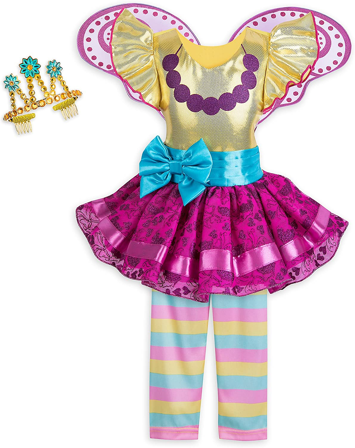 Amazon Com Disney Fancy Nancy Costume Set For Girls Size 9 10 Multi Clothing