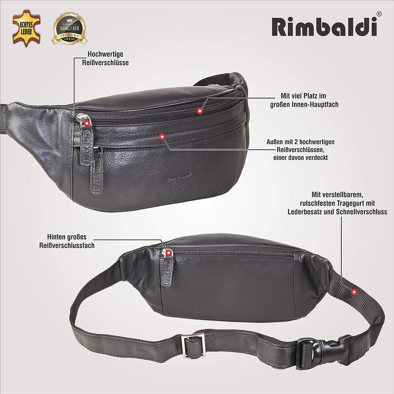 Rimbaldi Pack Exclusive fanny avec beaucoup de cuir fin nappa souple de haute qualit/é en noir