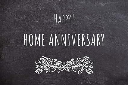 Amazon com : 25 Happy Home Anniversary Realtor Chalk Cards, Bulk