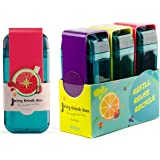 Asobu Juicy Drink Box the Ultimate Unbreakable Reusable 10oz Water Bottle for Kids Pack of Three (Blue Red Purple)