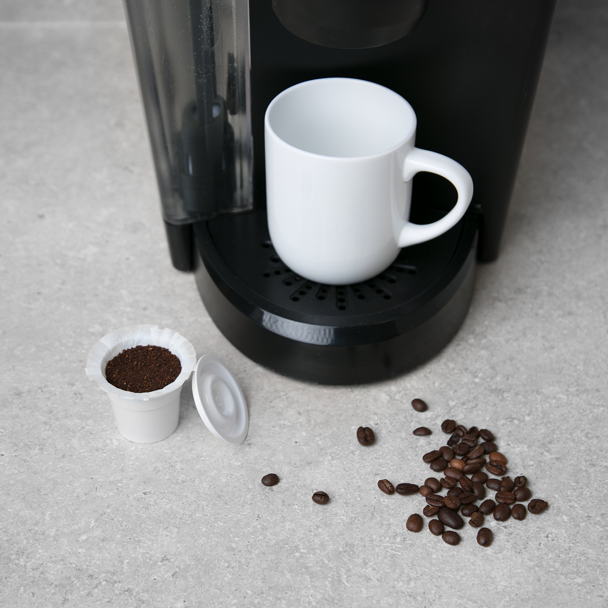Disposable Cups for Use in Keurig Brewers - Simple Cups - 50 Cups, Lids, and Filters - Use Your Own Coffee in K-cups by Simple Cups (Image #4)