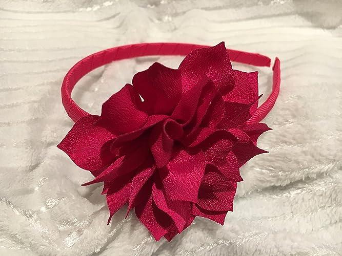 Amazoncom Hot Pink Headband Flower Headband Ribbon Headband