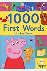 Peppa Pig: 1000 First Words Sticker Book Paperback