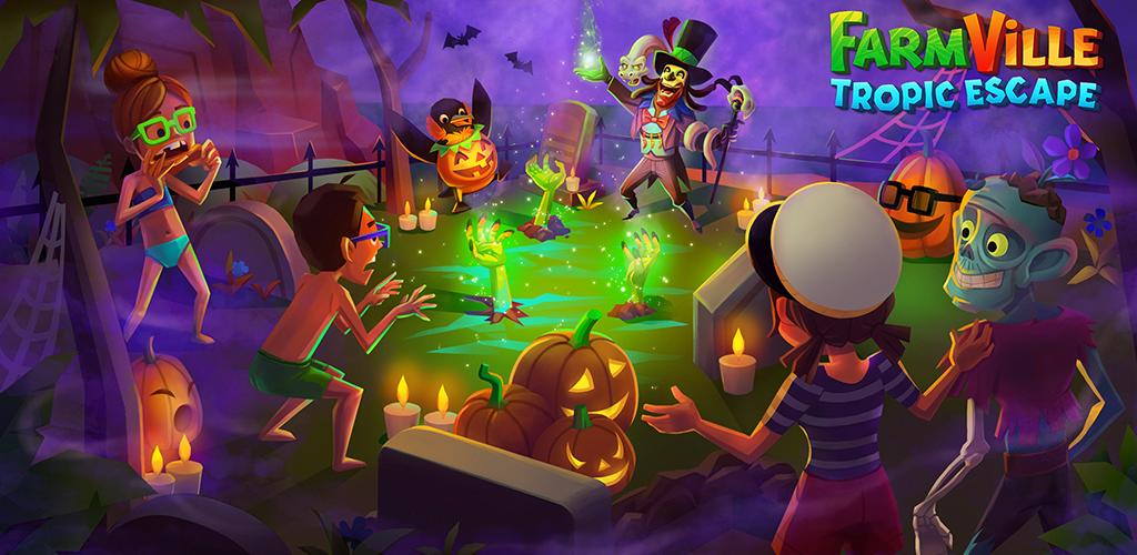 Farmville Tropic Escape 2020 Halloween Event Amazon.com: FarmVille: Tropic Escape   Harvest in Paradise