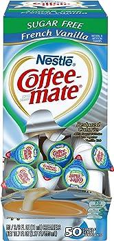 50-Count Nestle Coffee-Mate Sugar Free French Vanilla Coffee Creamer