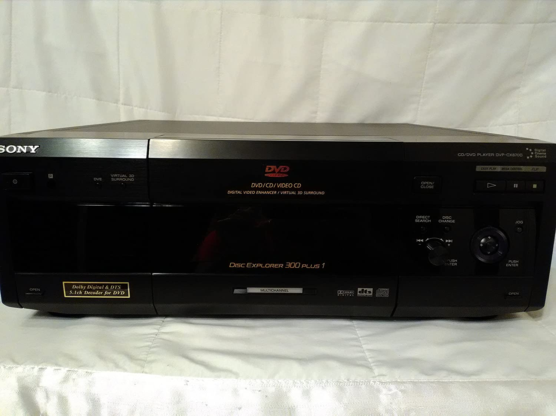 Amazon Com Sony Dvp Cx870d 301 Disc Dvd Cd Video Cd Player Electronics