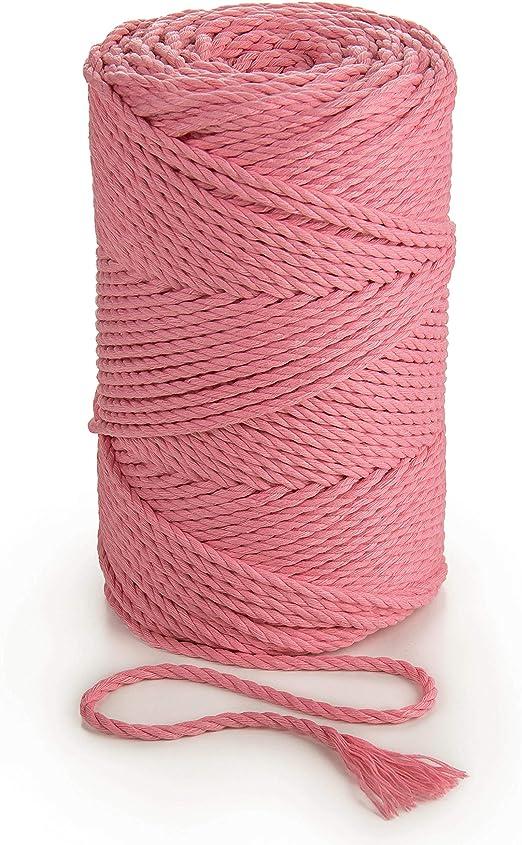 Cuerda de macramé de 3 mm x 140m cuerda de algodón suave para ...