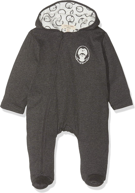 Lucy /& Sam Baby Charcoal Penguin Snuggle Suit Snowsuit