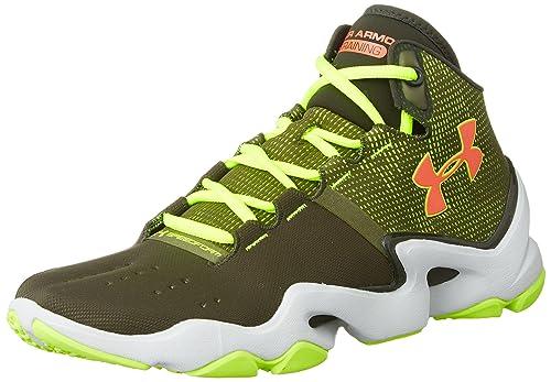 Under Armour Men s UA Speedform Phenom Greenhead High-Vis Yellow Bolt  Orange Sneaker 552586af1c