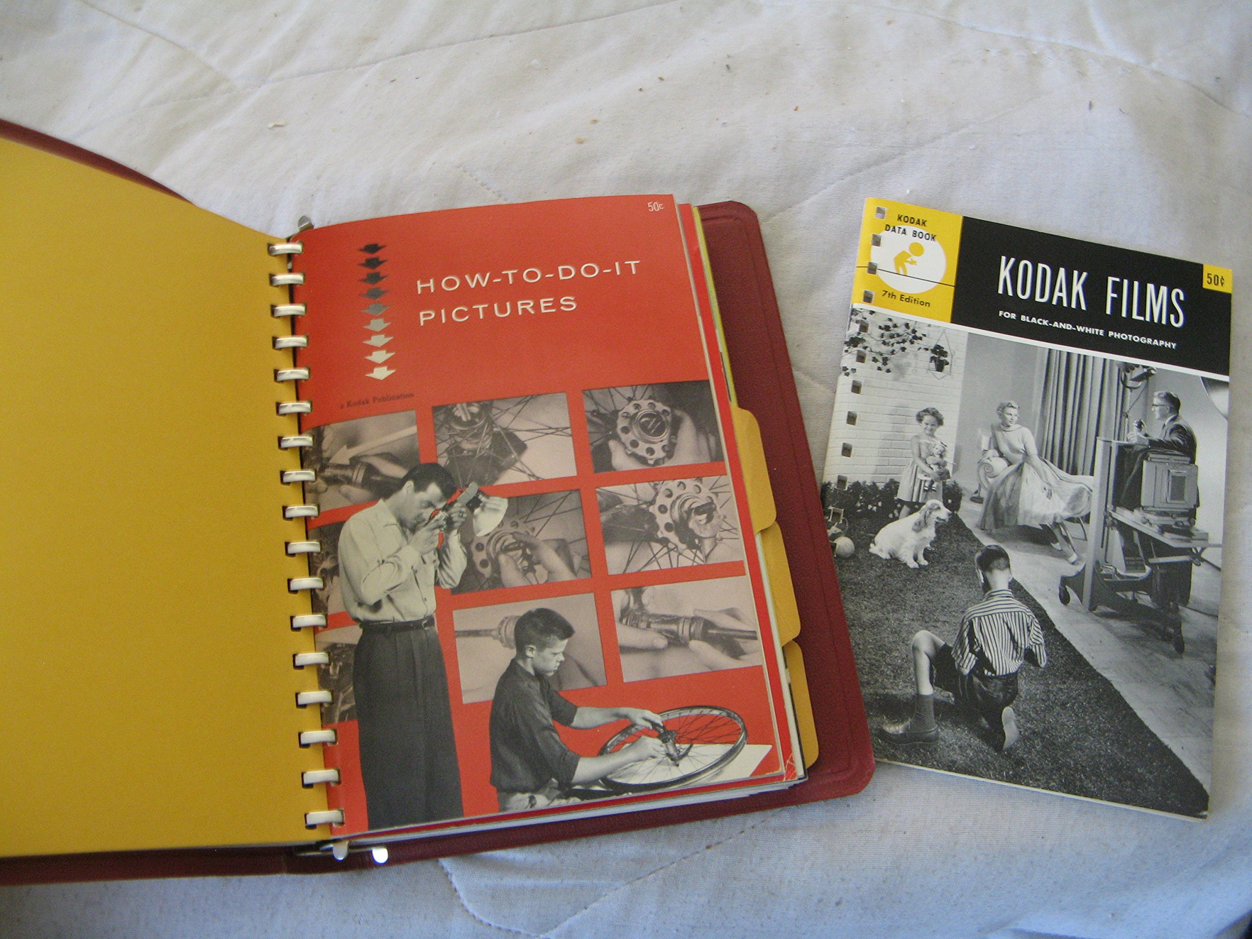Kodak photographic notebook includes 8 kodak data books ring bound