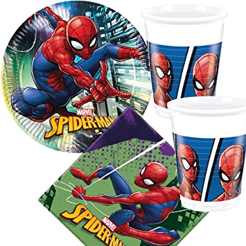37 piezas Party * Spider-Man 2018 * con plato + taza + ...