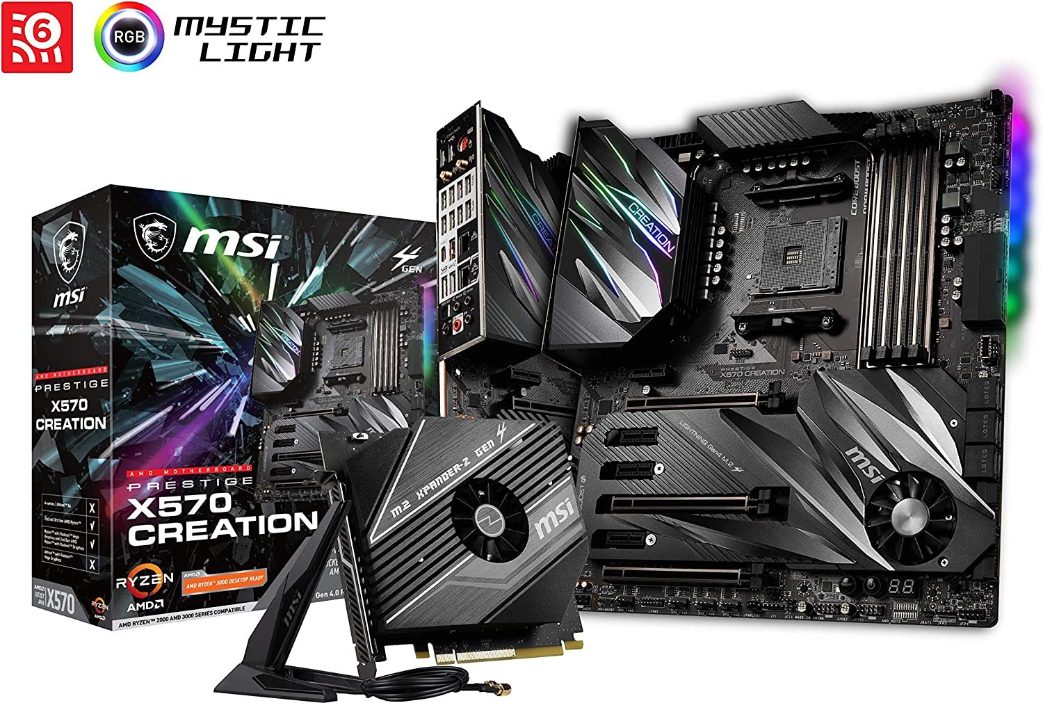 MSI Prestige X570 Creation - Placa Base (Chipset AMD X570, DDR4 ...