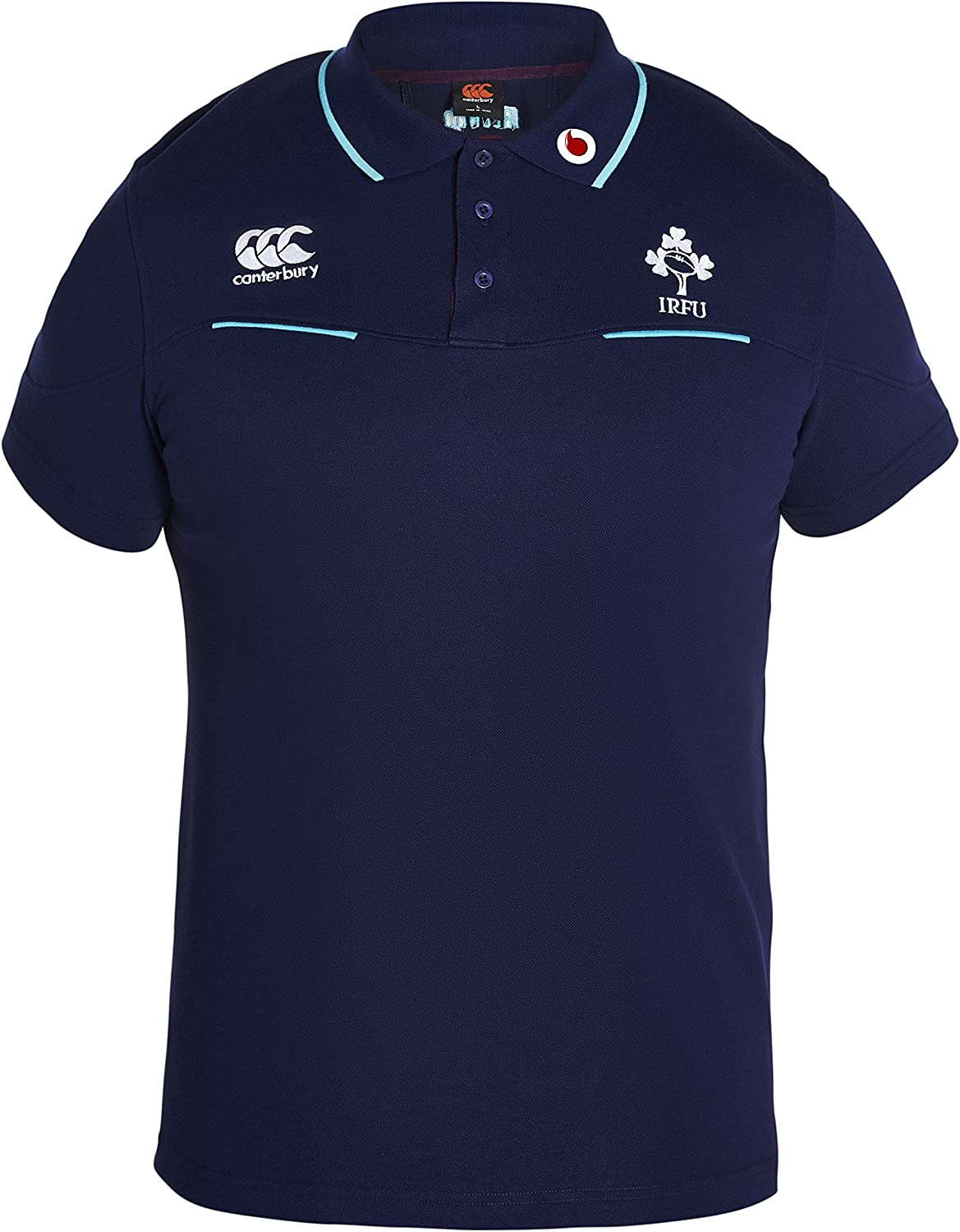 Peacot Canterbury 2016-2017 Ireland Rugby Cotton Training Polo Shirt