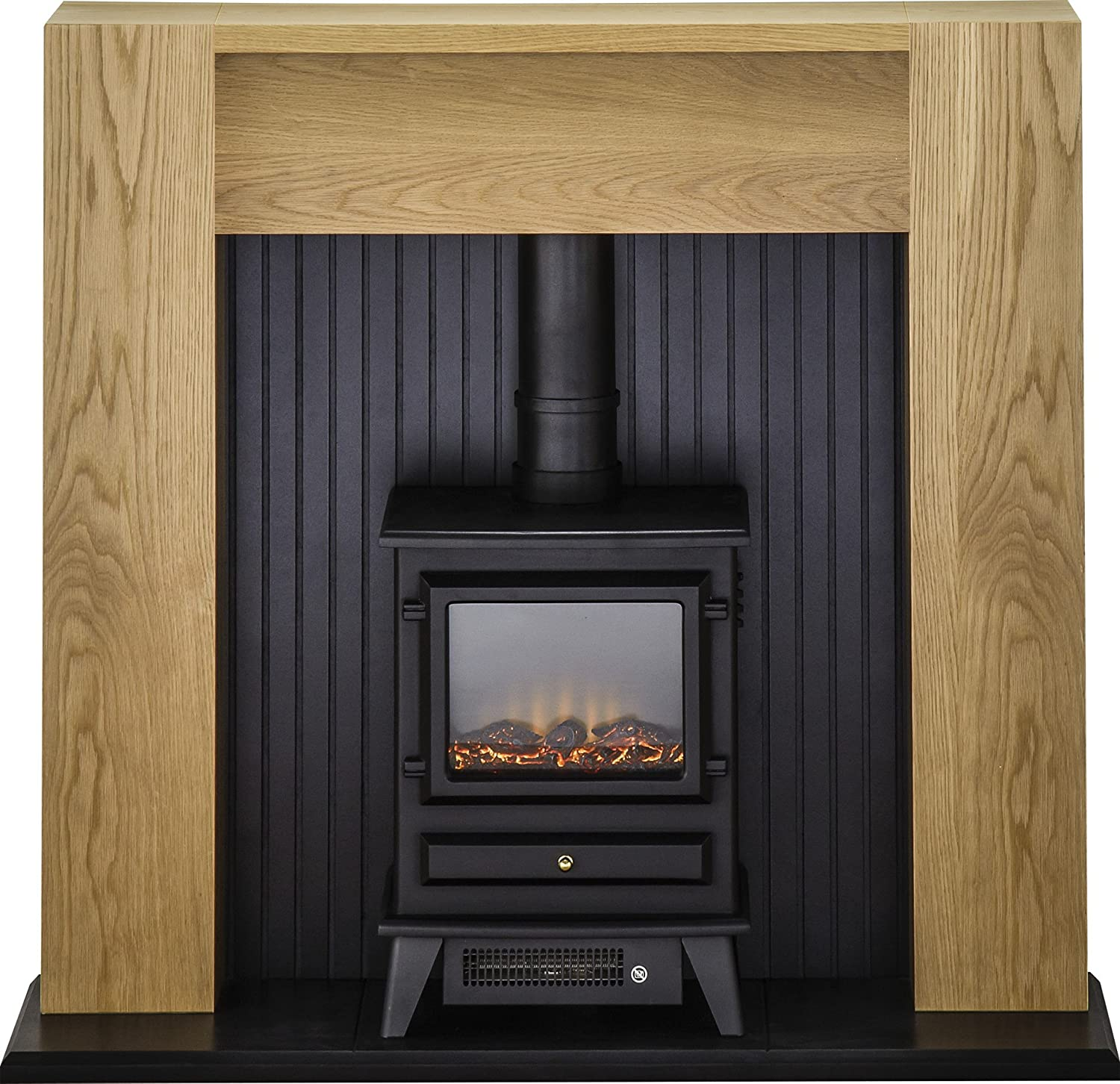Adam Elleswood Stove Suite With Hudson Electric Stove In Black