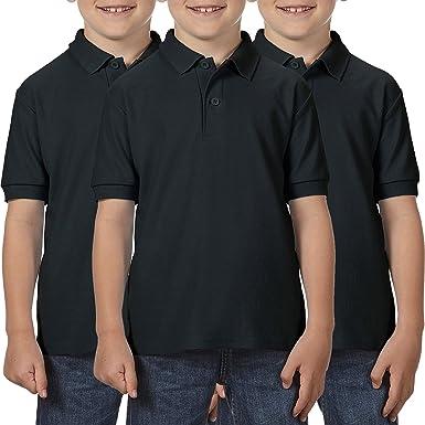 Boys Girls Polo Shirts 3 Pack Childrens White Polo Shirts School