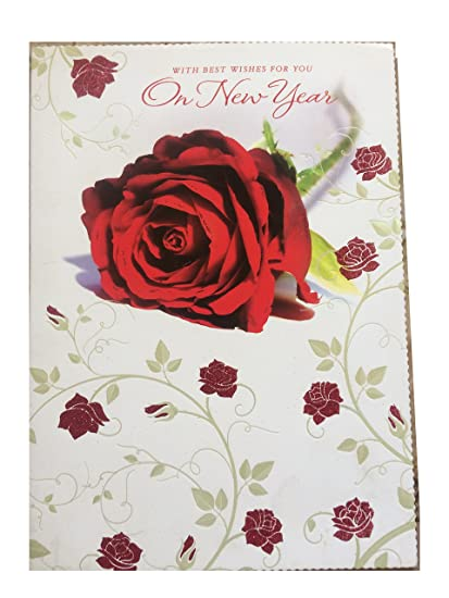 archies cream color happy new year card by naivi