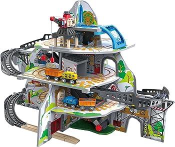 Hape Kids Wooden Railway Mighty Mountain Mine Set