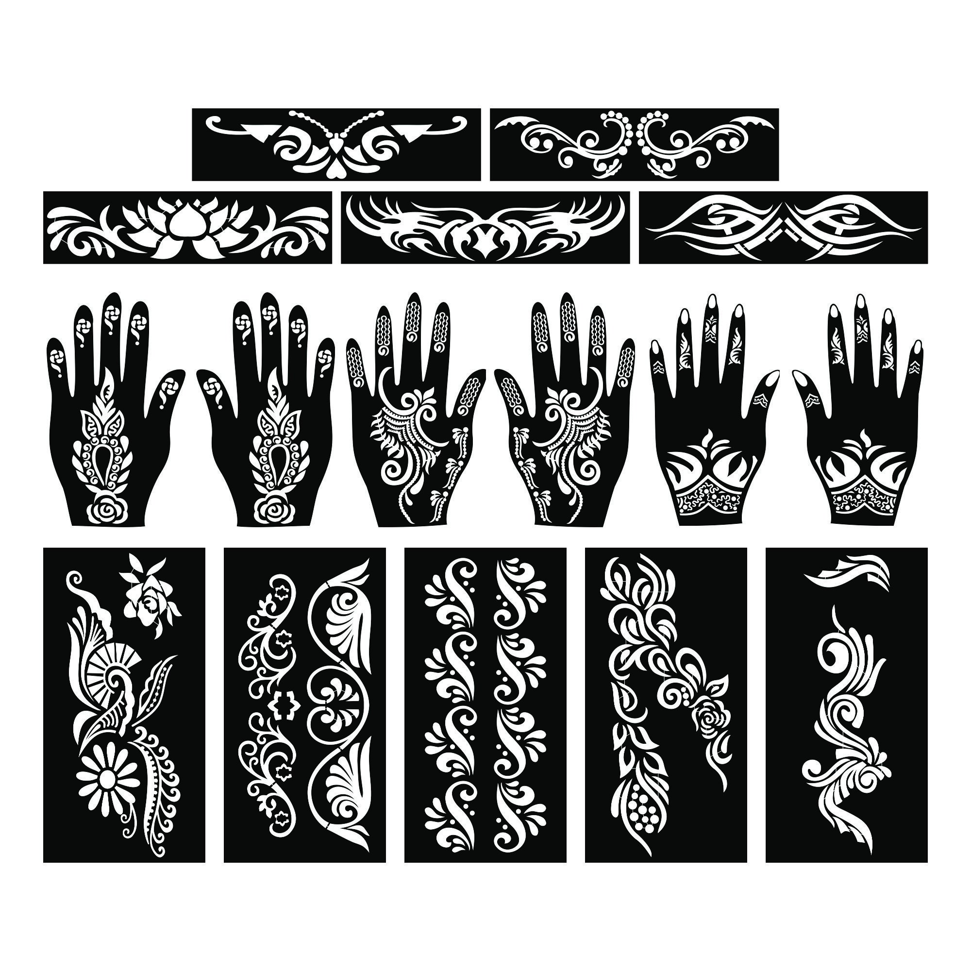 Henna Tattoo Kaufen Amazon: Amazon.com : PARTH IMPEX Henna Tattoo Stencils (Pack Of 15