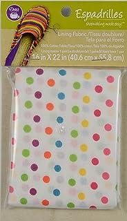 Dritz 50034 Espadrilles Lining Multi Dot Fabric, 16