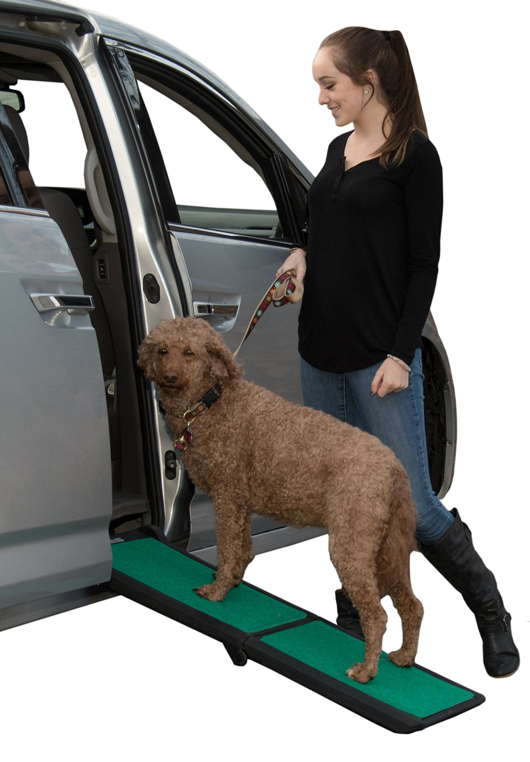 Pet Gear Travel Lite Ramp with supertraX Surface for Maximum Traction, 4 Models to Choose from, 42-71 in. Long, Supports 150-200 lbs, Find The Best Fit for Your Pet 1