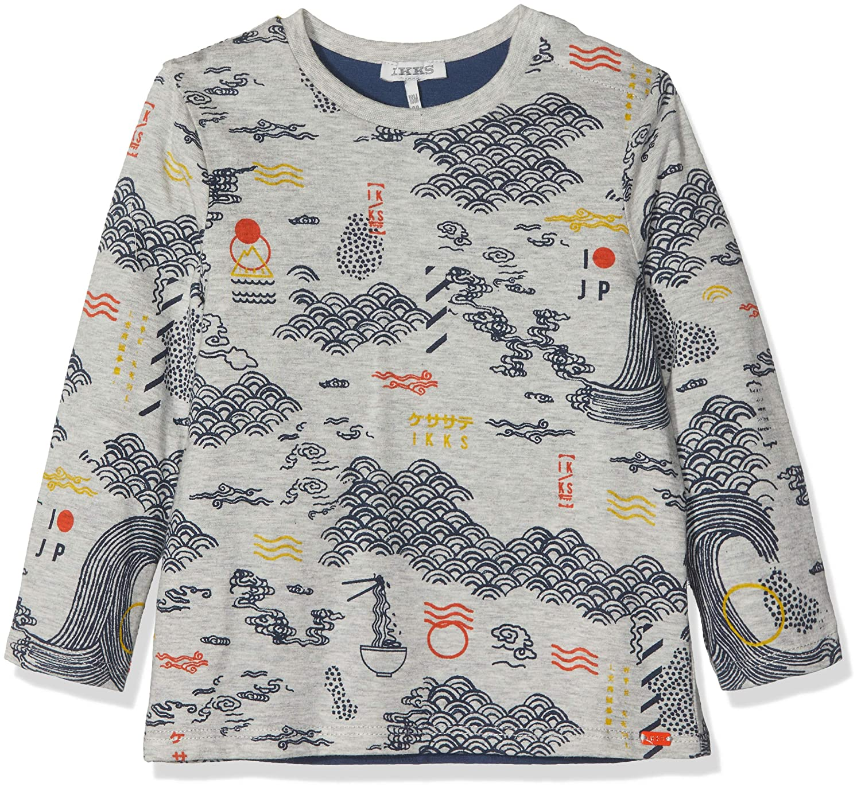 IKKS T-Shirt Manches Longues Reversible, Camiseta para Bebés IKKS JUNIOR XM10031