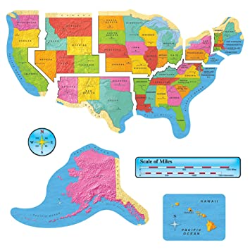 Amazoncom Trend Enterprises United States Map Bulletin Board