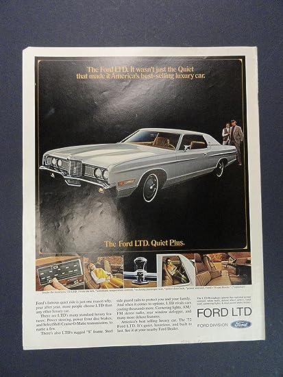 Amazon Com 1972 Ford Ltd 1972 Full Page Print Advertisement