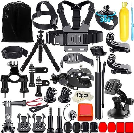 Appolab 45 in 1 Accessori Kit Per GoPro Hero 6 5 4 3 2 1, Hero 5 Black, Hero 5 Session,Xiaomi Yi,SJCAM SJ9000 SJ6000 SJ5000,Sony Action Camera: Amazon.es: Electrónica