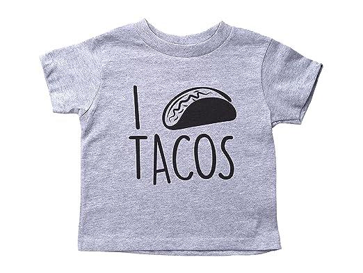 ad4583b6e Amazon.com: Baffle Taco Shirt for Toddlers/I Heart Tacos/Unisex Crew ...