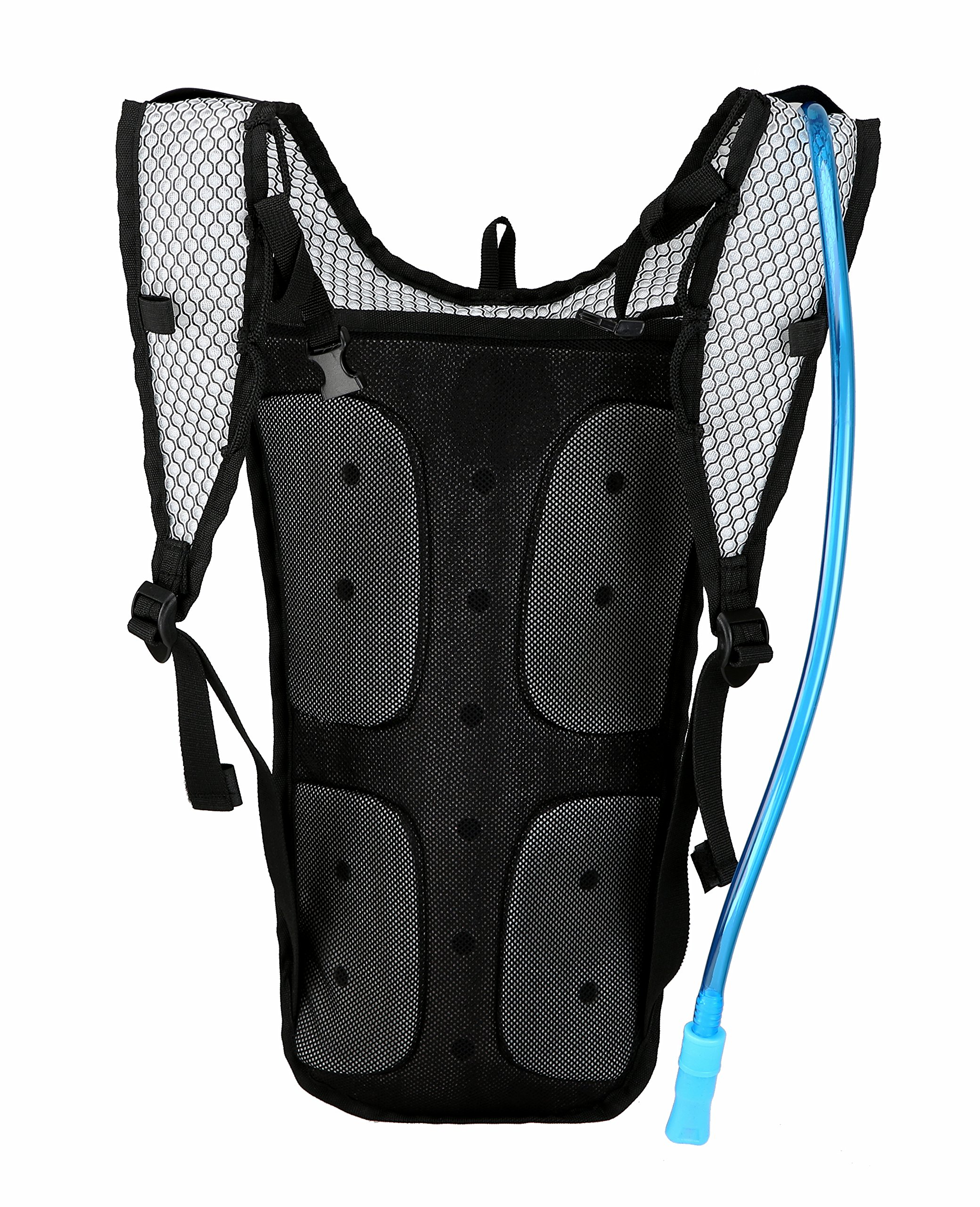 Roswheel 15937 Hydration Backpack with 2 L BPA Free Water Bladder, Green by Roswheel (Image #2)