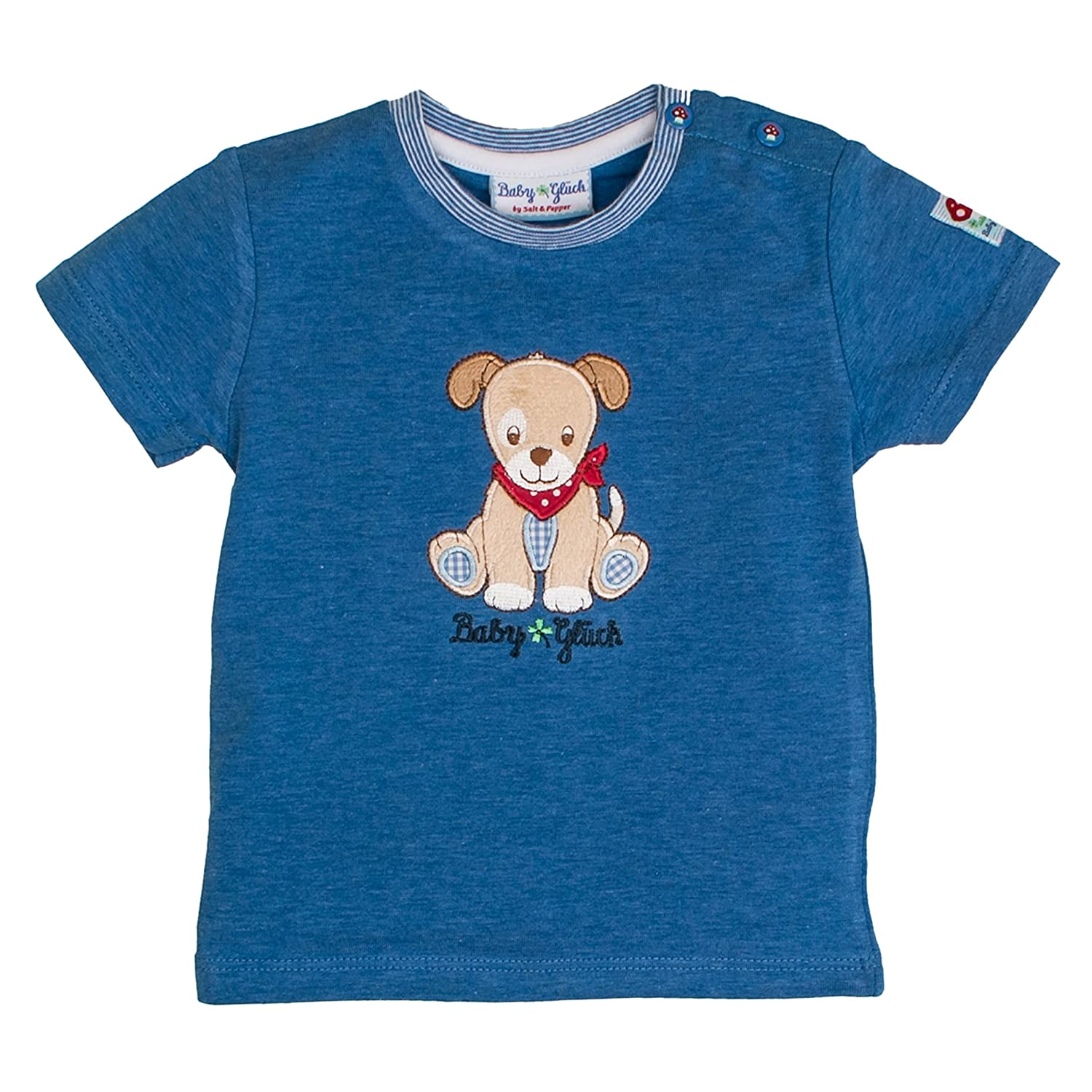 SALT AND PEPPER Baby-Jungen Bg Uni Hund T-Shirt
