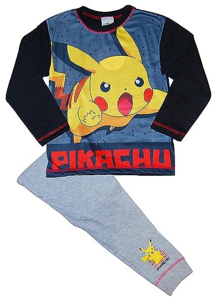 Pokemon Pikachu - Pijama Dos Piezas - para niño Gris Black/Grey / Multicolour 9-10 Años: Amazon.es: Ropa y accesorios