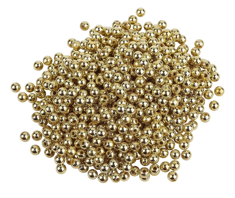 Wachsperlen gold 6mm 35 Stück