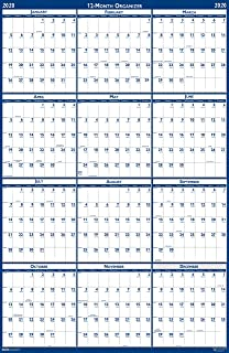 product image for House of Doolittle 2020 Laminated Wall Calendar, Reversible, Horizontal/Vertical, 24 x 37 Inches, January - December (HOD396-20)