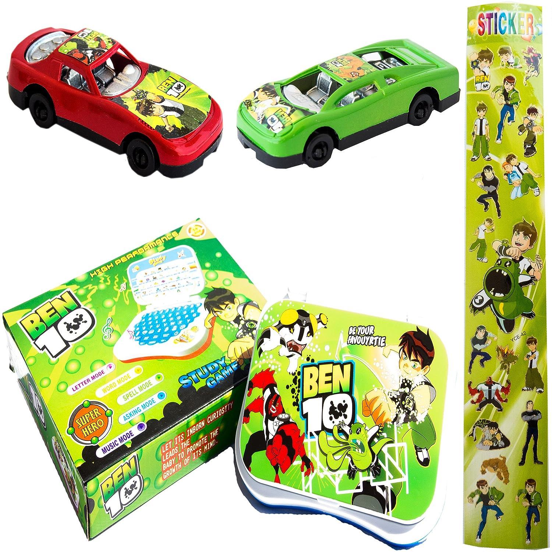 Buy Ben 10 Talking English Learning Laptop Toy for Kids & 2 Push