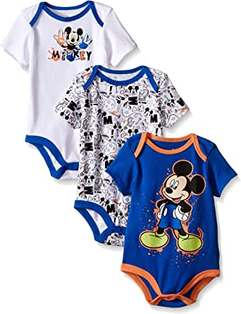 Babygrows Peleles 2-Pack 100/% algod/ón 0-24 meses Disney Mickey Mouse Baby Boys Girls Bodysuits