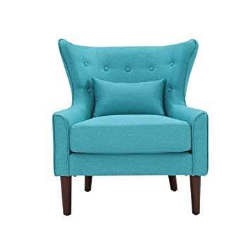 Salesfever Ohrensessel Sessel Mit Armlehnen Polstersessel In Blau