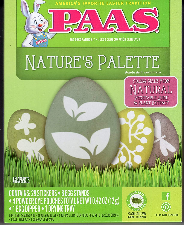 Amazon.com: PAAS Egg Decorating Kit - Natures Palette