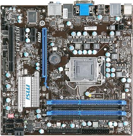Msi Carte Mere Intel H55 Format Matx Ddr3 2133 Oc 2000 Oc 1600 Oc 1333 1066 Mhz Gigabit Lan Amazon Fr Informatique