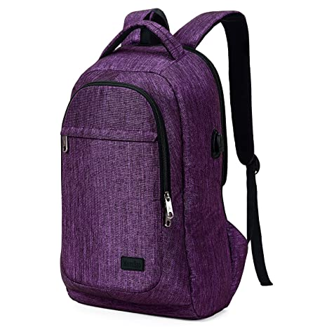c723b2be9 Amazon.com: MarsBro Laptop Backpack, Business Travel College Backpack with  USB Charging Port Water Resistant Anti Theft 15.6 Inch Bag for Women Men  Purple: ...