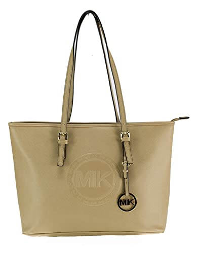 0e68c4e6e276d MIK Glamour Trendy Elegant Damen Schultertasche Handtasche PU-Ledertasche  Grob (Khaki)