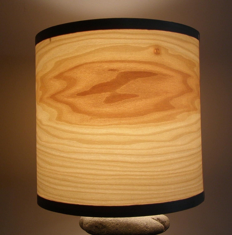 Natural wood poplar veneer drum shade