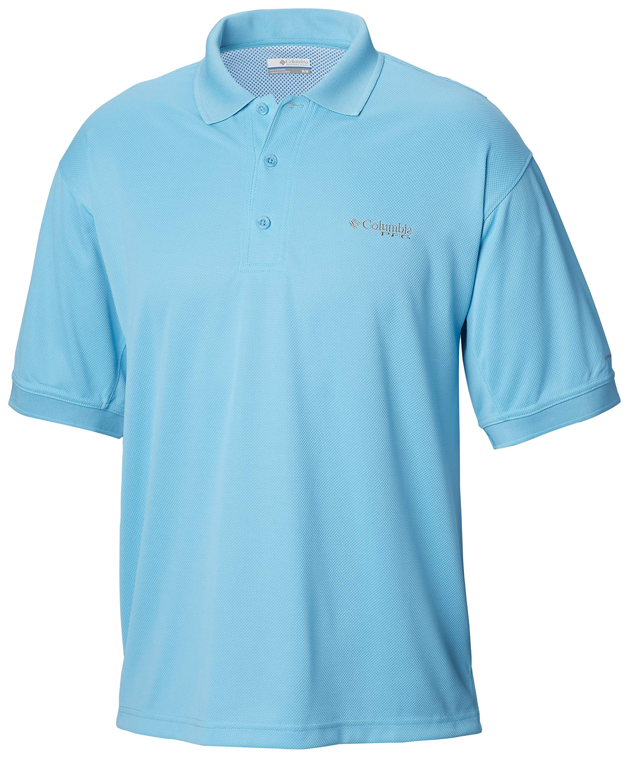 Columbia Men's PFG Perfect Cast Polo Shirt, Breathable, UV Protection , Atoll , Small