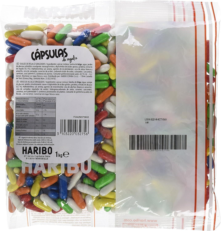 Haribo Capsulas Caramelos Grageados - 1000 gr: Amazon.es ...