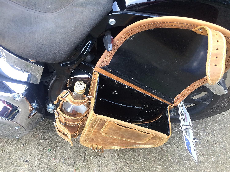 ORLETANOS Diablo Hellbraun Schwingentasche kompatibel mit Harley Davidson Satteltasche braun Getr/änkehalter HD Seitentasche Linke Seite Dragstar Wildstar Tasche Schwinge Slim Heritage Fatboy