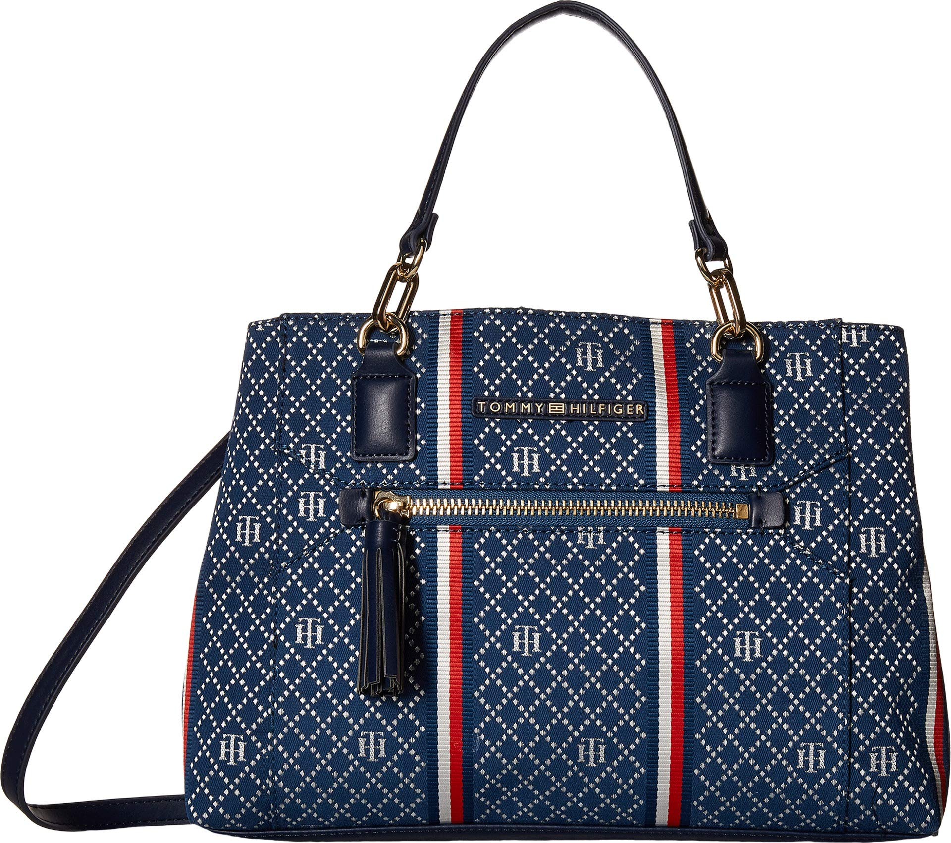 Tommy Hilfiger Women's Macon Satchel Navy/Multi One Size