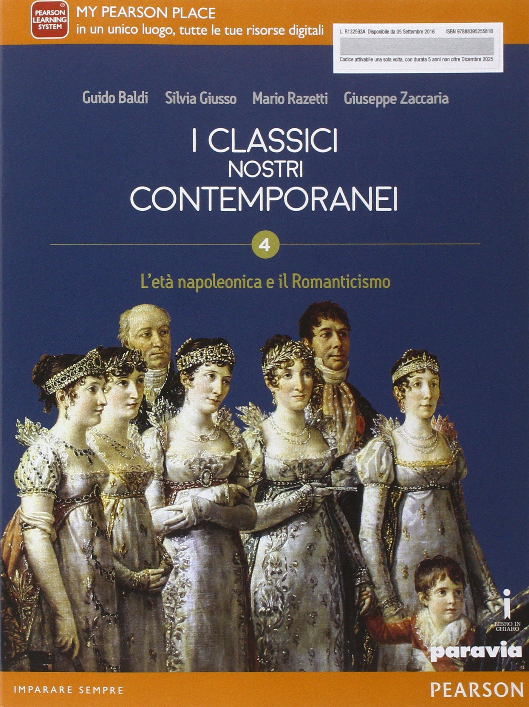 I classici nostri contemporanei 4, libro di letteratura per le scuole superiori